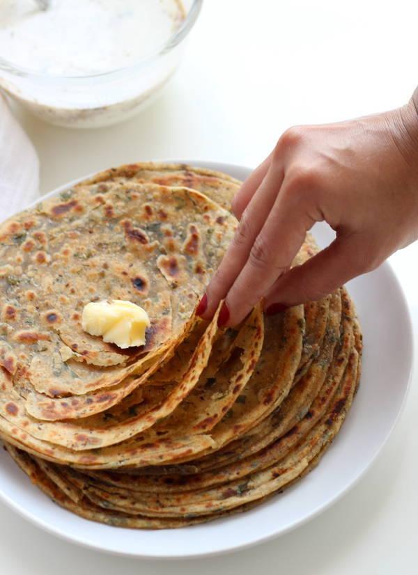 pudina-paratha-recipe-mint-paratha